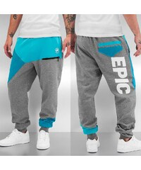Just Rhyse Epic Sweat Pants Grey Turquoise