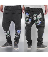 Just Rhyse Flower Sweat Pants Dark Grey