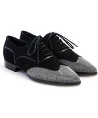 Chaussures à lacets Giuseppe Zanotti femme en daim noir