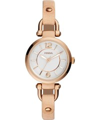Fossil Montres, Georgia Watch Leather Beige en beige