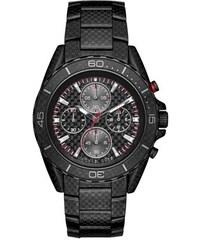 Michael Kors Montres, Gents Jetmaster Black-Tone Carbon Fiber Watch en rouge, noir