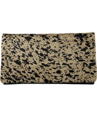 Abro Sacs de Soirée, Cavallino Clutch Printed Brown/Black en marron