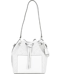 Michael Kors Sacs à Bandoulière, Greenwich MD Leather Bucket Bag White/Lilac en blanc