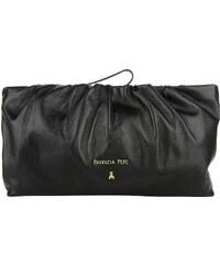 Patrizia Pepe Sacs de Soirée, Leather Pochette With Drapes Black en noir