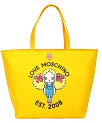 Love Moschino Sacs à Bandoulière, Shopping Bag Nylon Twill Giallo en jaune