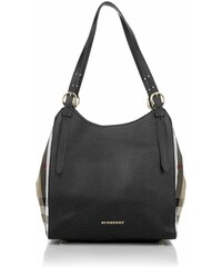 Burberry Sacs portés main, House Check Derby Small Canterbury Tote Black en beige