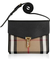 Burberry Sacs à Bandoulière, Macken Crossbody House Check Derby Leather Small Black en noir
