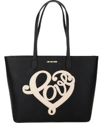 Love Moschino Sacs à Bandoulière, Love Shopping Bag Grain PU Nero en noir