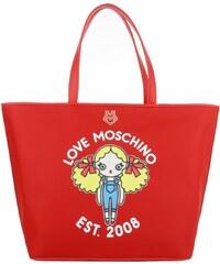 Love Moschino Sacs à Bandoulière, Shopping Bag Nylon Twill Rosso en rouge