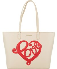 Love Moschino Sacs à Bandoulière, Love Shopping Bag Grain PU Avorio en blanc