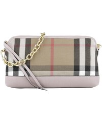 Burberry Sacs à Bandoulière, Abingdon Small House Check Derby Leather Clutch Pale Orchid en rose pâle
