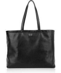 Prada Sacs à Bandoulière, Reversible Shopping Bag Soft Calf Nero/Fuoco en rouge, noir