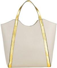 Coccinelle Sacs portés main, Borsa Pelle Vit/Vit Double Seashell en or, beige