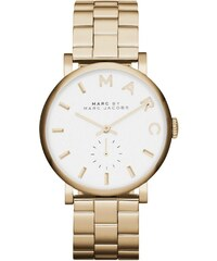 Marc Jacobs Montres, Baker Stainless Steel Gold en or, blanc