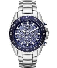 Michael Kors Montres, Jet Master Automatic Silver-Tone Watch en bleu, argent