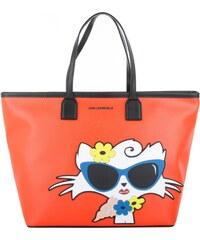 Karl Lagerfeld Sacs à Bandoulière, Beach Choupette Shopper Tangerine en orange, noir