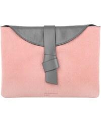 Jil Sander Navy Sacs de Soirée, Plain Calf Leather Clutch Rose/Grey en rose pâle, gris