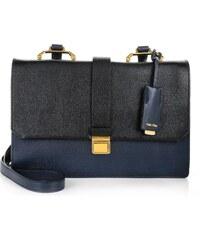 Miu Miu Sacs à Bandoulière, Madras Goat Leather Shoulder Bag Nero/Baltico en bleu, noir