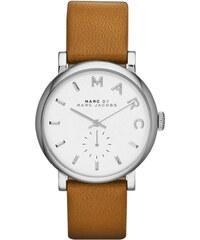 Marc Jacobs Montres, Baker Stainless Steel Leather Watch Cognac en marron, cognac