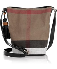 Burberry Sacs à Bandoulière, Canvas Check Mini Susanna Tassel Crossbody Black en beige, noir