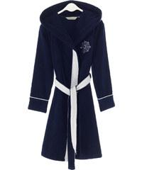Soft Cotton Dámský krátký župan MARINE LADY s kapucí S Tmavě modrá