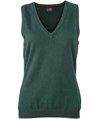 Kvalitní dámský pullover - vesta - Lesní zelená XS
