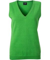Kvalitní dámský pullover - vesta - Zelená XS