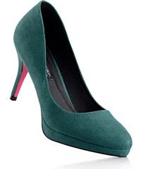 bpc selection Escarpins en 2 largeurs, chaussant normal vert avec 9 cm talon entonnoirchaussures & accessoires - bonprix