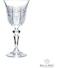 Broušená křišťálová sklenice na víno Crystal BOHEMIA 1,5 dcl