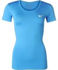 Sportovní tričko Nike Pro V Neck dám. modrá