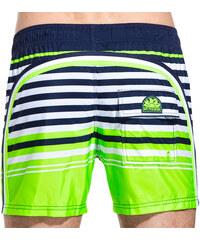 SUNDEK elastic waistband mid-length swim shorts