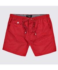BOOHOO Plavecké šortky červené barvy