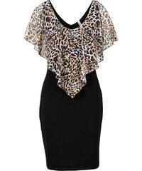 BODYFLIRT boutique Kleid mit Volant/Sommerkleid in schwarz von bonprix