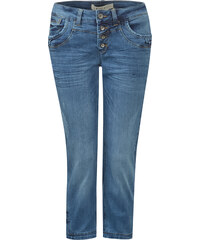 Street One - Jean 3/4 ample Kate - blue washed with greencast