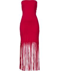 BODYFLIRT boutique Kleid mit Fransen in rot von bonprix