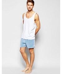 ASOS Loungewear - Short de sport en velours - Bleu
