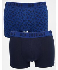 Ben Sherman - Lot de 2 boxers - Bleu
