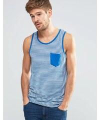 Blend - Débardeur à fines rayures avec poche - Bleu classique - Bleu