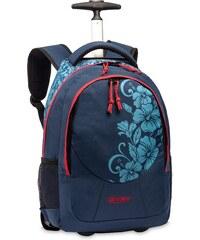 BestWay Školní batoh na kolečkách BestWay 40028-5052 modrá / korálová