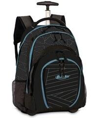 BestWay Školní batoh na kolečkách 40133-0144 černo-modrá