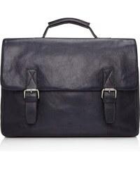Castelijn & Beerens Kožená taška na notebook Bravo 639484 tmavě modrá