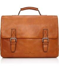 Castelijn & Beerens Kožená taška na notebook Bravo 639484 koňaková
