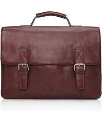 Castelijn & Beerens Kožená taška na notebook Bravo 639484 lilek