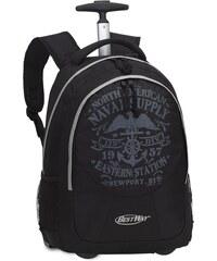 BestWay Školní batoh na kolečkách BestWay 40028-0127 černá / šedá