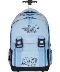 Školní batoh na kolečkách Elephant 11798 světle modrá