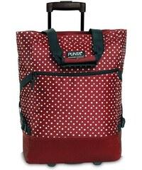 PUNTA wheel Nákupní taška na kolečkách 10008-0220 červeno-bílá