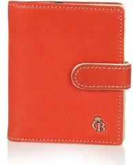 Castelijn & Beerens Dámská kožená peněženka 375415 červeno-oranžová