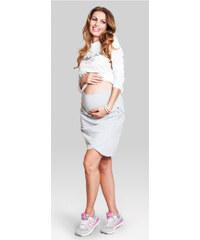 Happymum Šedá těhotenská sukně Tulip