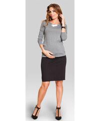 Happymum Černá těhotenská sukně Marina