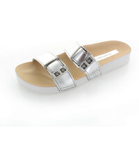 Dámské stříbrné pantofle Grendha Essence Slide